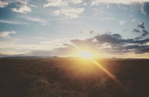 mountain pass sunset
