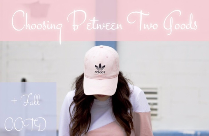 Choosing Between Two Goods + Fall OOTD