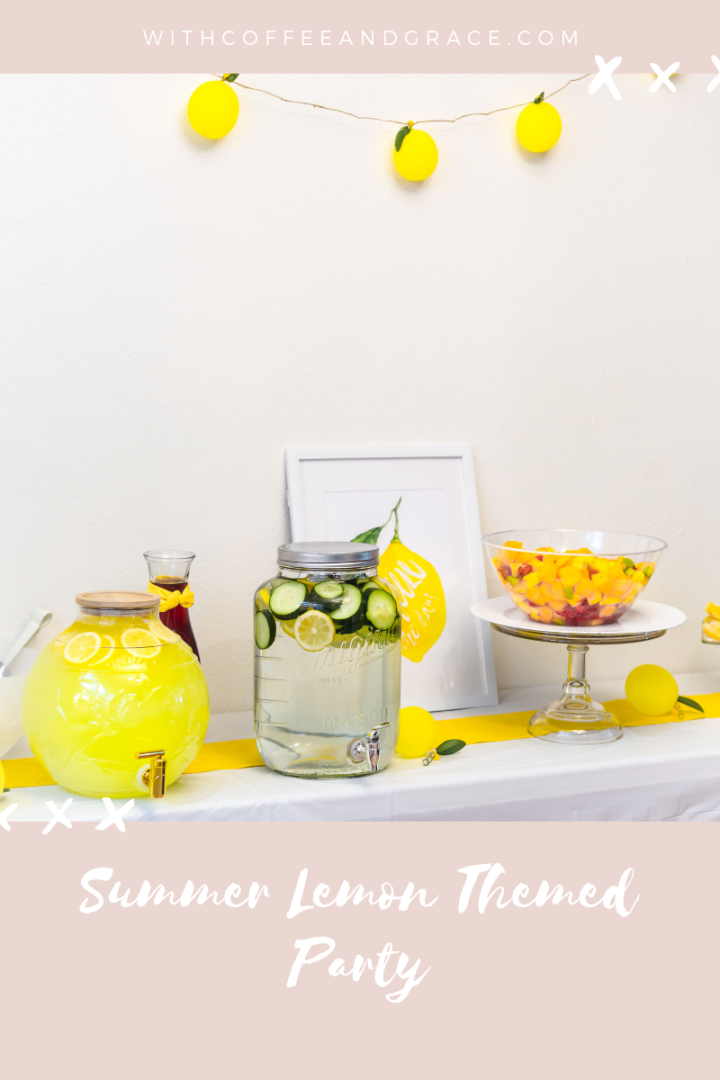 Summer Lemon Themed Party