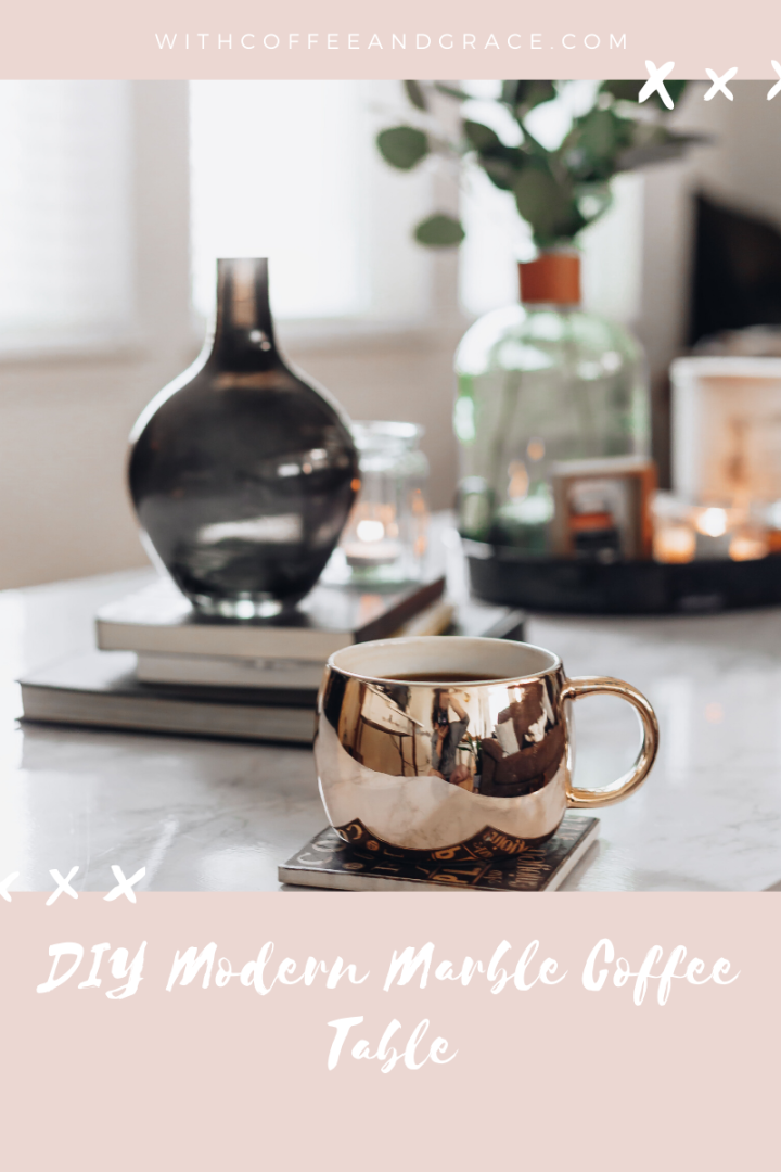 DIY Modern Marble Coffee Table!